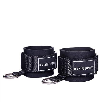 kylin Sport Fitness acolchado correa de tobillo para bandas de resistencia cable máquinas con bolsa de