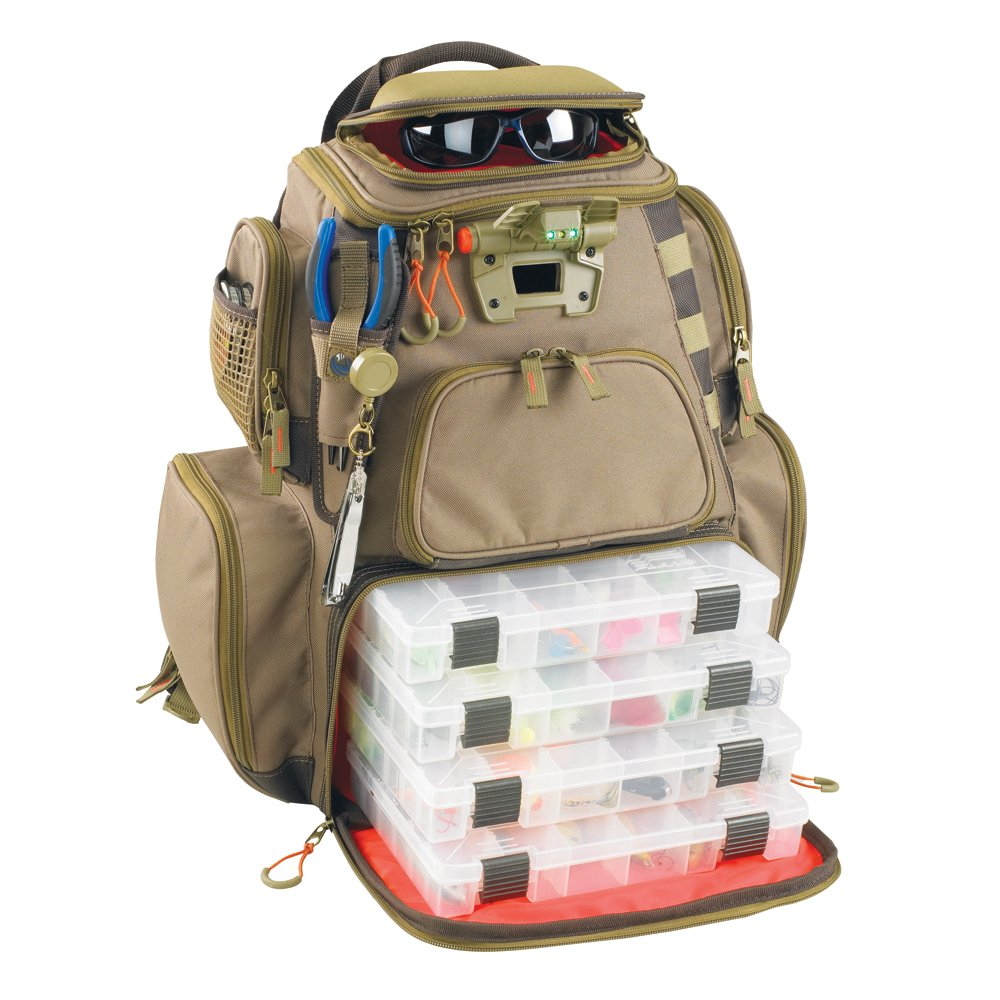 Wild River NOMAD Lighted Tackle Backpack w/4 PT3600 Trays by Wild River