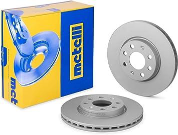 metelligroup 23-0835C Disco Freno Verniciato Pezzo di Ricambio per Auto//Automobile Certificato ECE R90 Kit Composto da 2 Dischi Freno