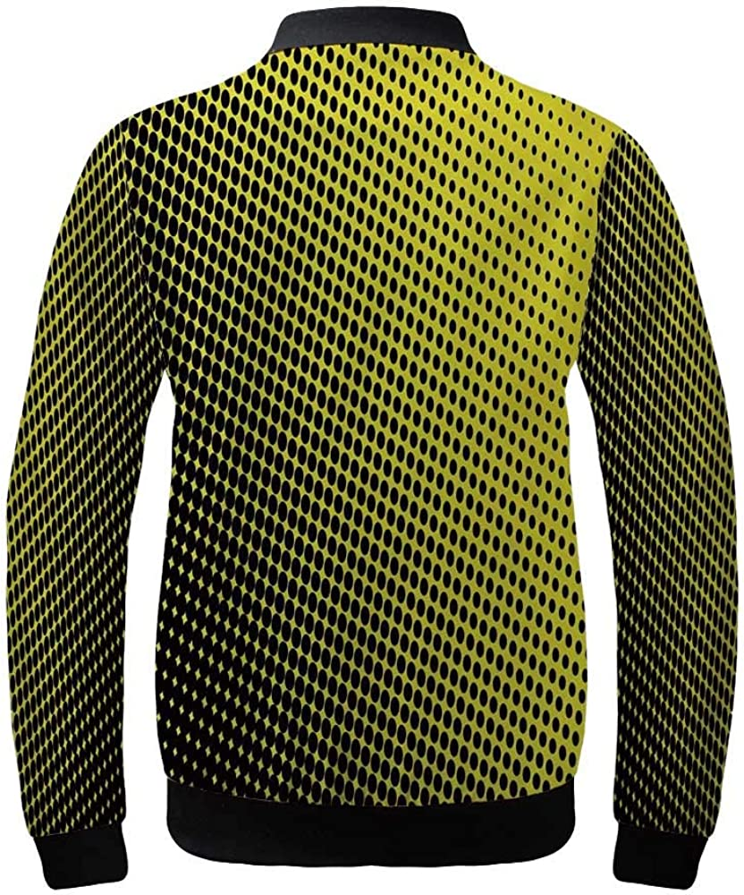 Yellow Chevron Women\'s Lightweight Jacket,Chevron Pattern with Yellow and Brown Lines Classical Retro for Sports,XS