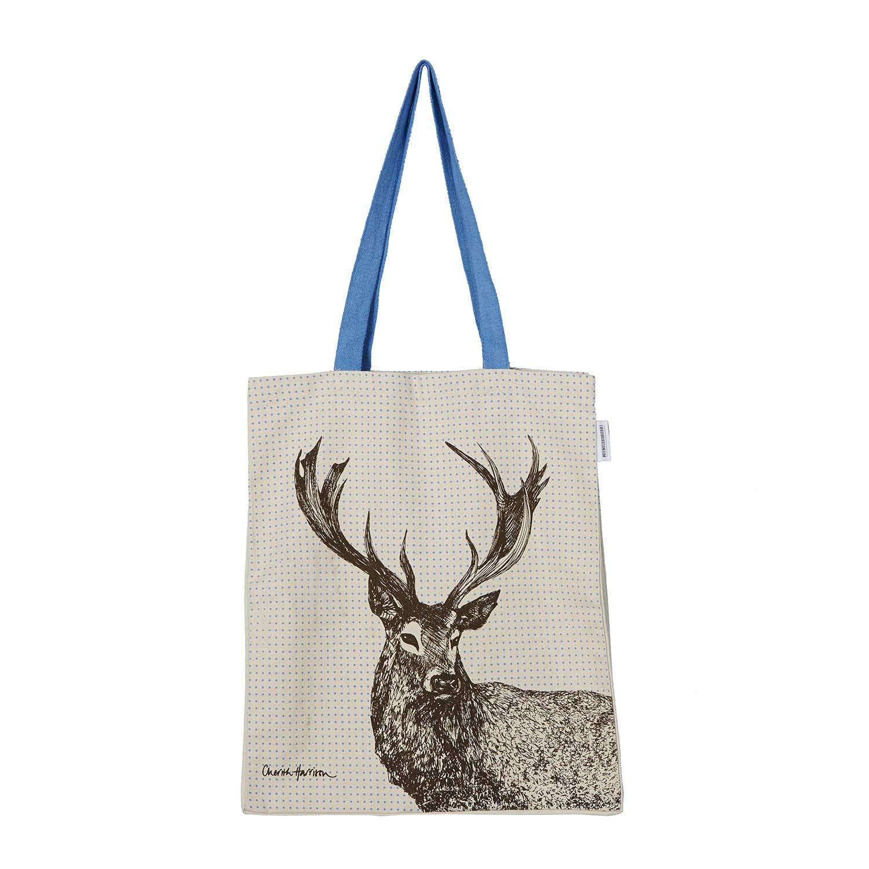 Scottish Animals Hand Screen-Printed Tote Bag