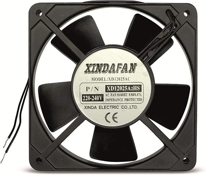 Ventilador de 230 V de 120 x 120 x 25 mm 230 V AC: Amazon.es: Hogar