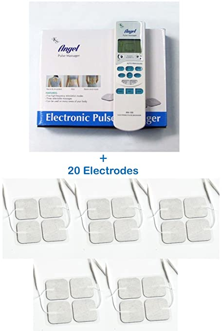 Tens Unit Electronic Pulse Massager + 20 electrodes Bundle Pack FDA Cleared – Pain Management