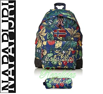 Napapijri Hack Fantasy Flowers School Leisure outing Travel Backpack +  Pencil Case.  Amazon.co.uk  Office Products