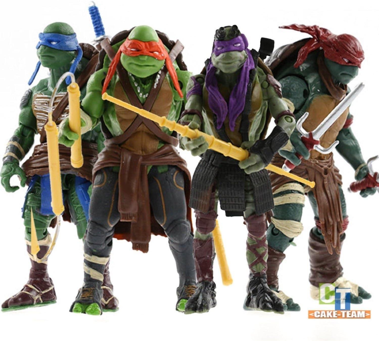 M.star.S TMNT Teenage Mutant Ninja Turtles 4PCS Action Figures Anime Movie Toys. The Best Gift