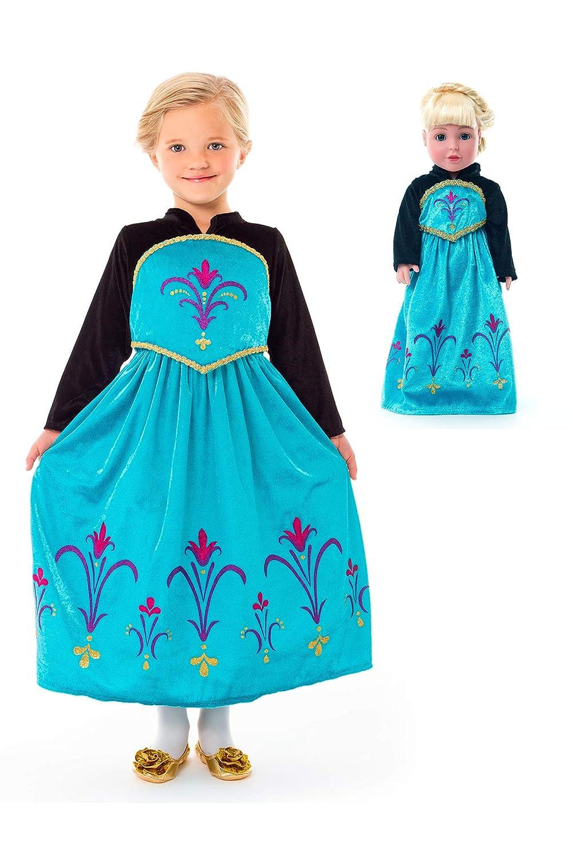 Little Adventures Ice Queen 戴冠式ドレスアップコスチューム&お揃いの人形用ドレス(XLサイズ7~9歳)   B07K8YGCKB