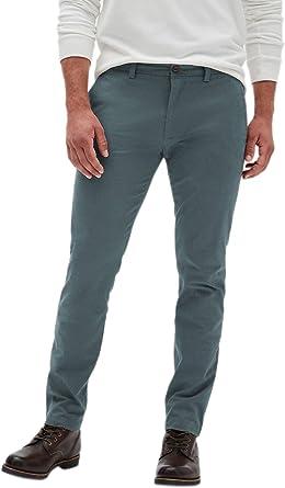 Amazon Com Banana Republic Fulton Skinny Fit Pantalones Chinos Para Hombre Color Gris Y Azul Clothing