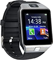 Smartwatch DZ09 Relógio Inteligente Bluetooth Gear Chip Android iOS Touch Faz e atende ligações SMS Pedômetro Câmera - PRATA