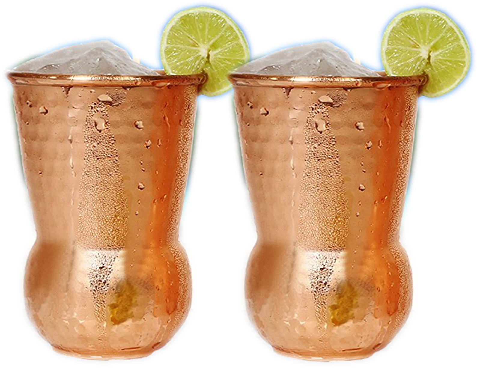 Hand Hammered Pure Copper Tumbler Moscow Mule Mugs Copper Tumbler Cups pure copper glass for mule cocktail beverages soft drinks Handcrafted Copper Set of 2