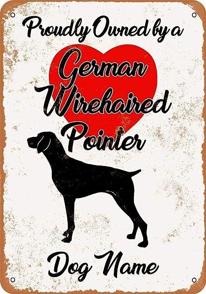 Amazon Com Custom Dog Name German Wihair Pointer Vintage Look 8 X