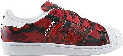 basket superstar adidas femme rouge
