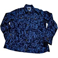 Jones New York Womens Ocean Flower Modern Essentials Denim Jacket Size Large