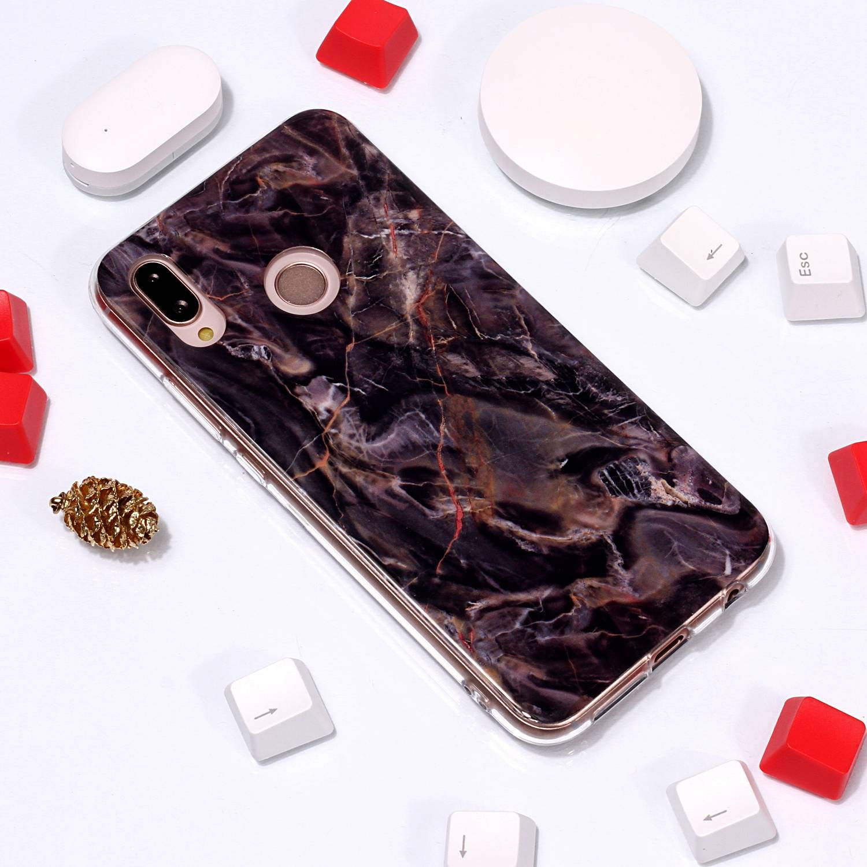 Huawei P20 Lite Hülle Silikon Schutz Handy Hülle Handytasche HandyHülle Stoßfest Kratzfest Etui Schale Schutzhülle Weich Bumper Case Cover für Huawei P20Lite NEYHU230857#5 NEXCURIO