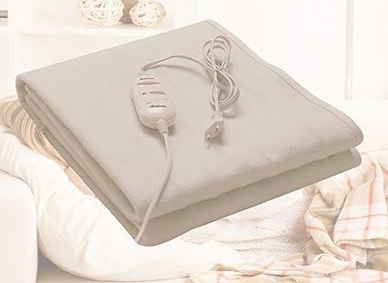 Deluxe Polar Peluche Manta eléctrica eléctrica Manta eléctrica térmica cama Alfombrilla calefactora de calor calor –