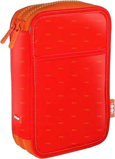 Milan Look 2 Estuches, 19 cm, Naranja: Amazon.es: Oficina y papelería
