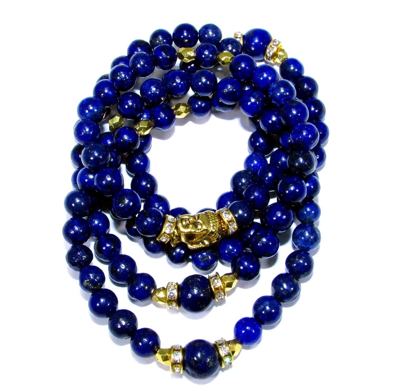 Amazon.com: HANDMADE Yoga Meditation Necklace Lapis Lazuli ...
