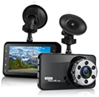 Dash Cam, Amuoc 1080P FHD DVR Car Driving Recorder 3 Inch LCD Screen 170° Wide Angle, G-Sensor, WDR, Parking Monitor...