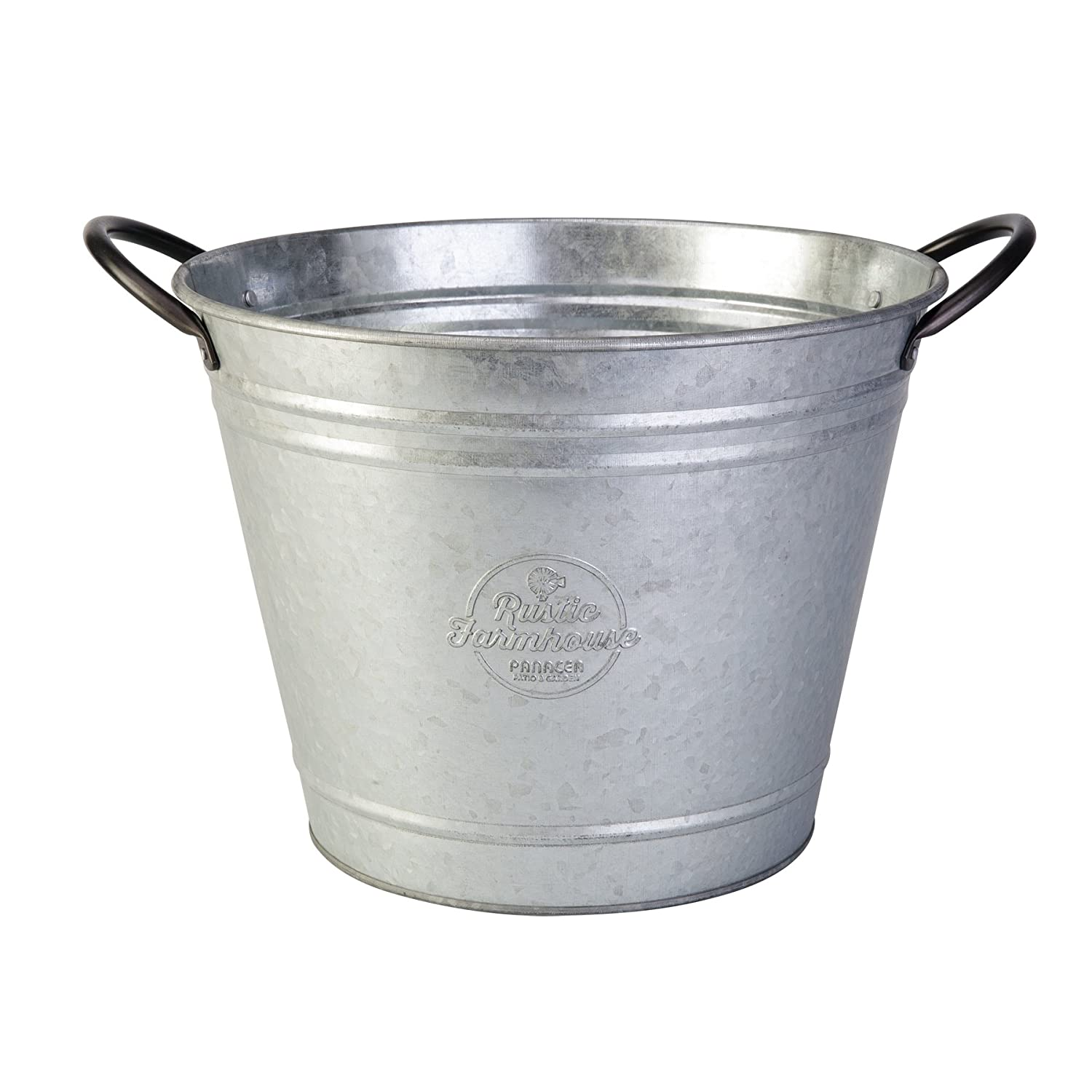 Panacea 83251, 10 Washtub Planter, Aged Galvanized Finish, 6 cs