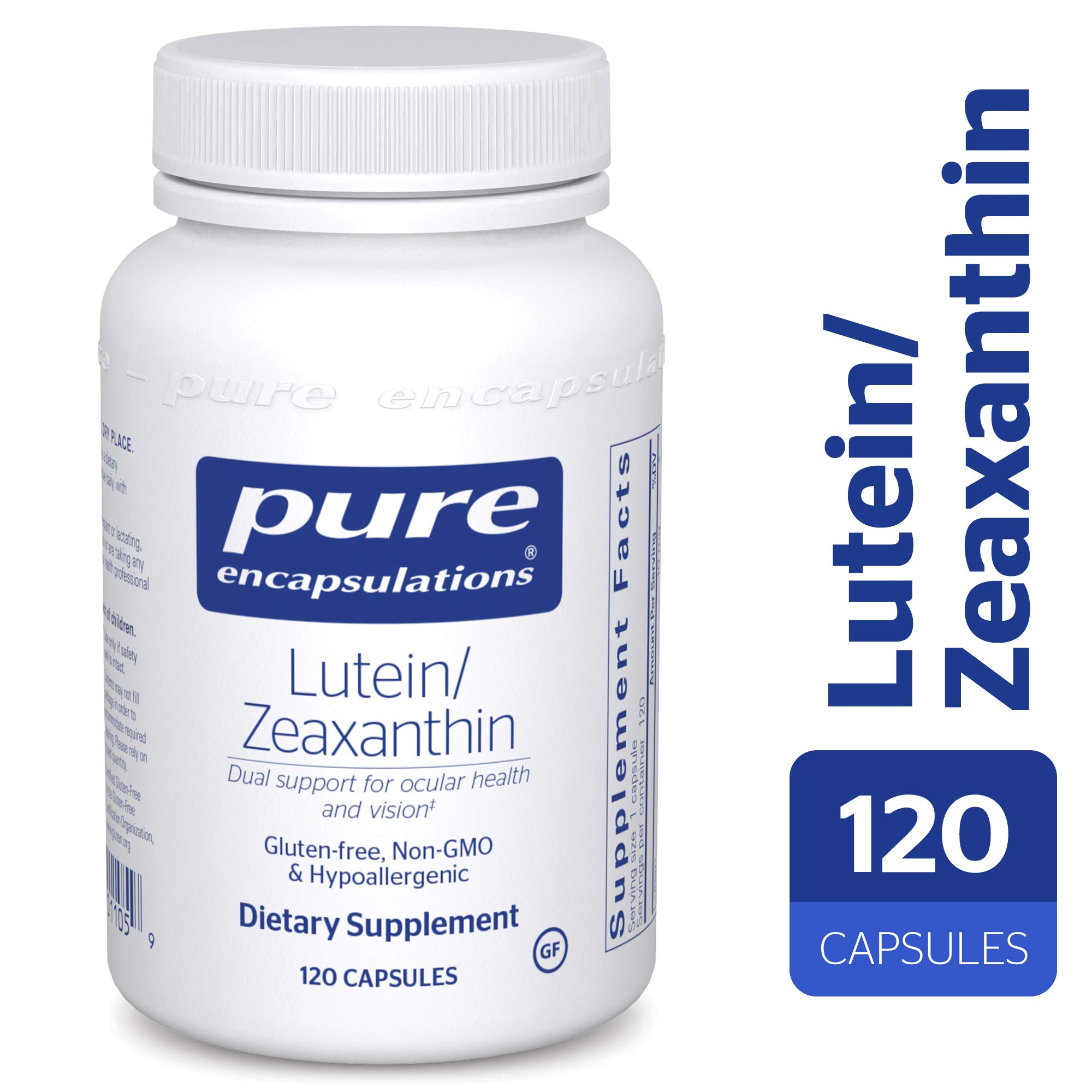 Pure Encapsulations - Lutein/Zeaxanthin - High Strength Blend for Macular Suport and Overall Visual Functioning* - 120 Capsules by Pure Encapsulations