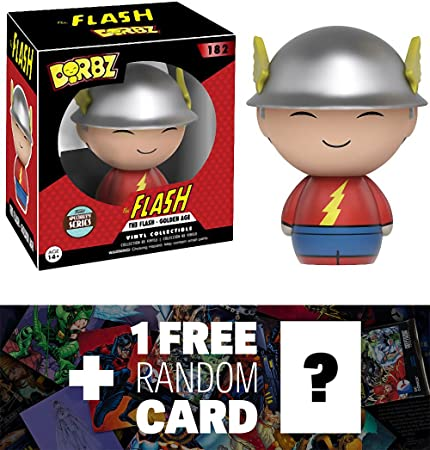 Specialty Series Golden Age The Flash 1 FREE Official DC Trading Card Bundle BCC94801X : Funko Dorbz x DC Universe Mini Vinyl Figure 114028