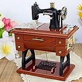 Carrusel Musical caja de música mecánico máquina de coser Vintage Música Regalo
