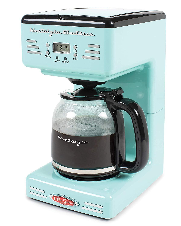 [Nostalgia] [ Nostalgia RCOF120AQレトロ12カッププログラマブルコーヒーメーカー - アクアブルー] (並行輸入品) One Size One Color B07QB83NMF