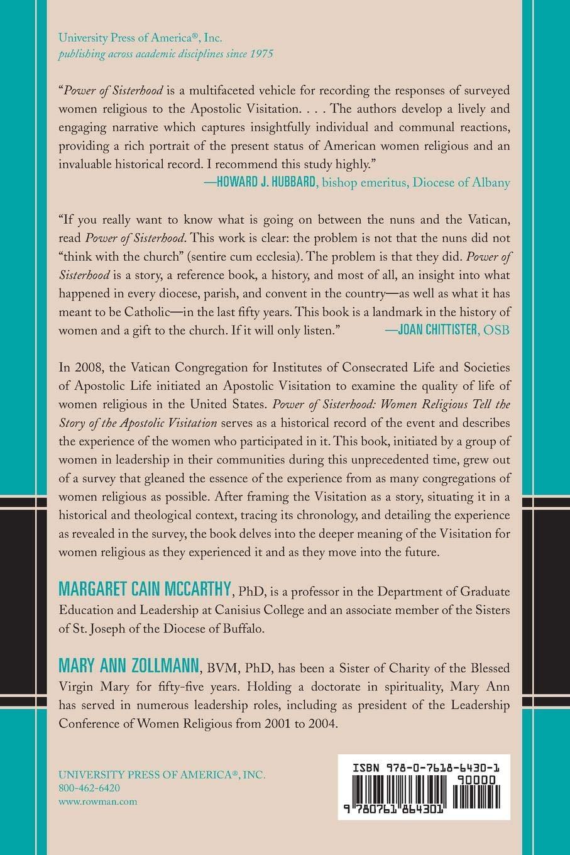 4b13d7eb Power of Sisterhood: Women Religious Tell the Story of the Apostolic  Visitation: Margaret Cain McCarthy, Mary Ann Zollmann: 9780761864301:  Amazon.com: Books