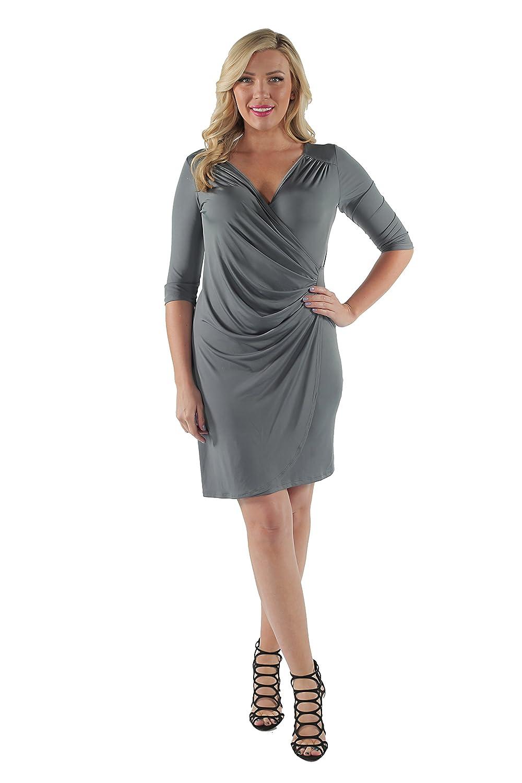 24/7 Comfort Apparel Women's Side-Gathered Dress CF659