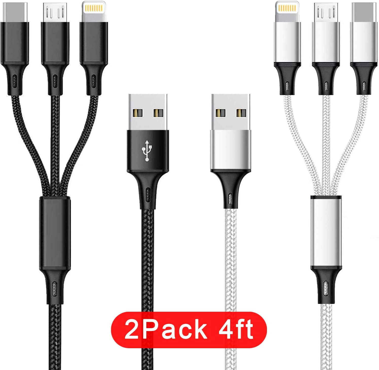 Free Amazon Promo Code 2020 for 2Pack Multi USB Charging Cable 3A