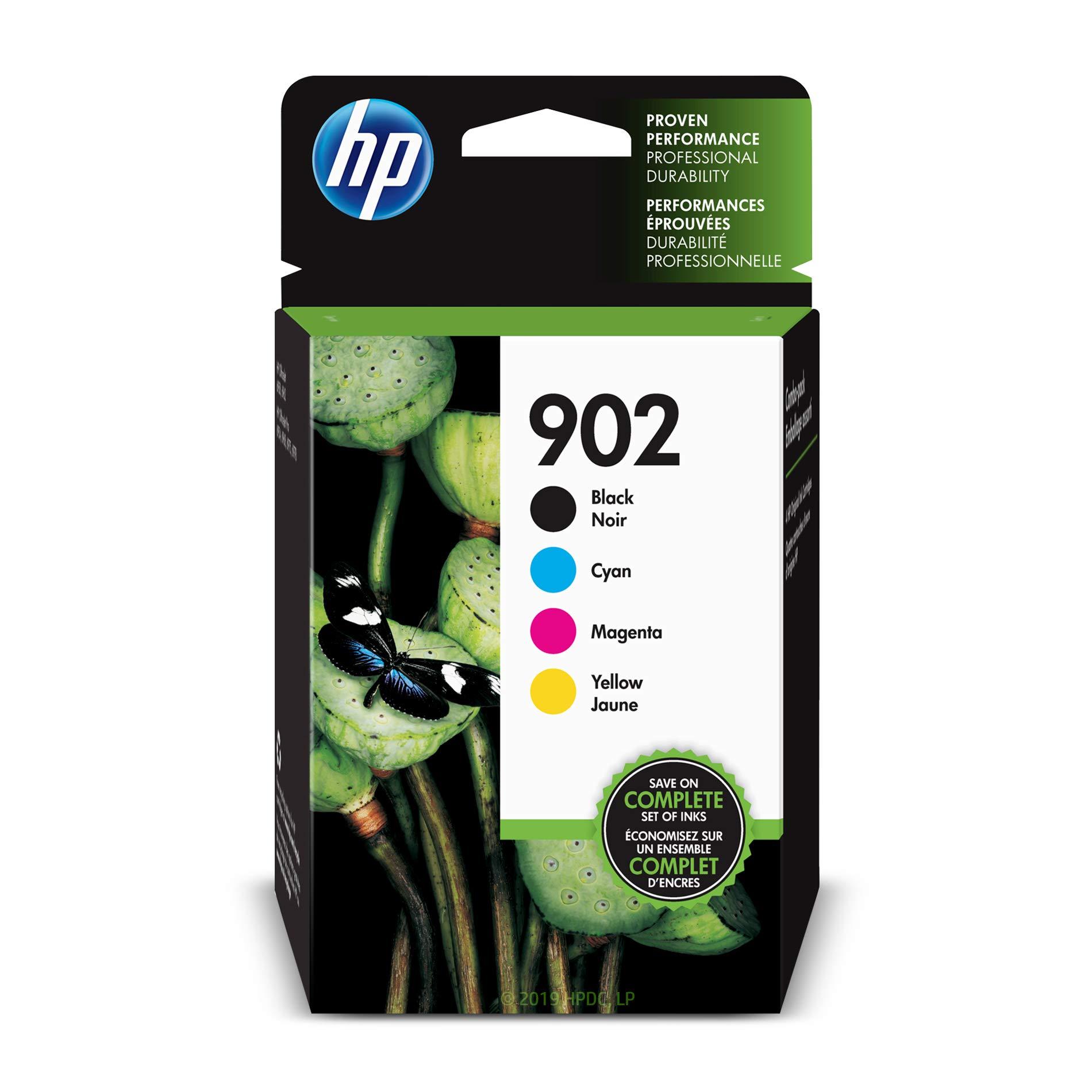 HP 902 | 4 Ink Cartridges | Black, Cyan, Magenta, Yellow | T6L98AN, T6L86AN, T6L90AN, T6L94AN by HP