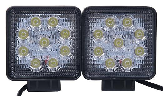 29 opinioni per 2 Pezzi 27W 2565LM Spot Luce Faro da Lavoro 9 LED Lampada Riflettore Quadrato