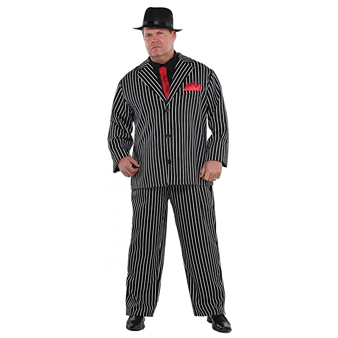 1930s Men's Costumes: Gangster, Clyde Barrow, Mummy, Dracula, Frankenstein Mob Boss Costume - Plus Size - Chest Size 52 $39.99 AT vintagedancer.com