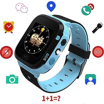 Kids GPS Reloj Inteligente, 1,44 Pulgadas Touch Anti-perdido Reloj Inteligente para niños Niños Chicas con cámara SIM Llamadas SOS Smart Watch Pulsera ...