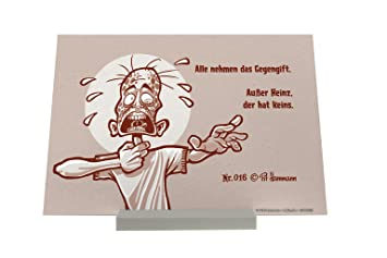 Soporte Fotografias Dibujos Animados Pit Hammann antídoto Pared Letrero: Amazon.es: Hogar