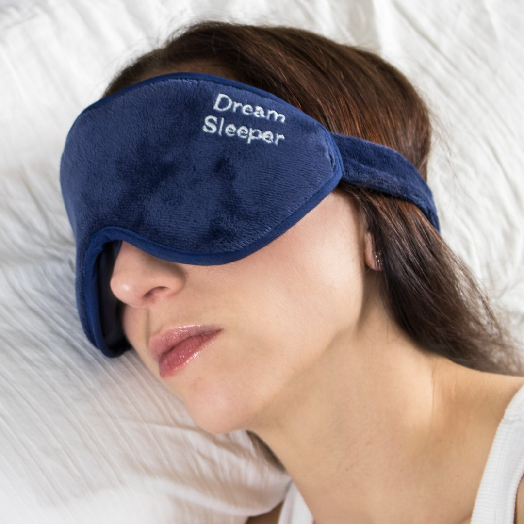 If You Lose It We Will Replace It for Free. Dream Sleeper ® Sleep Mask with Eye Pockets and Full Velcro Eye Mask Sleeping Will Block Out 100% of All Light. by Dream Sleeper
