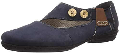 da4e868ef8285 Rieker Ladies Casual Shoes 53959 - Sonstige Farben (Navy) Leather - UK Size  4