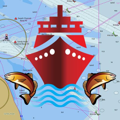 i-Boating: GPS Nautical / Marine Charts - offline sea, lake & river navigation maps for fishing, sailing & ()