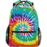 c671b50da6 BENNIGIRY Personalized Tie Dye Backpack Daypack Book Bag School Bags ...