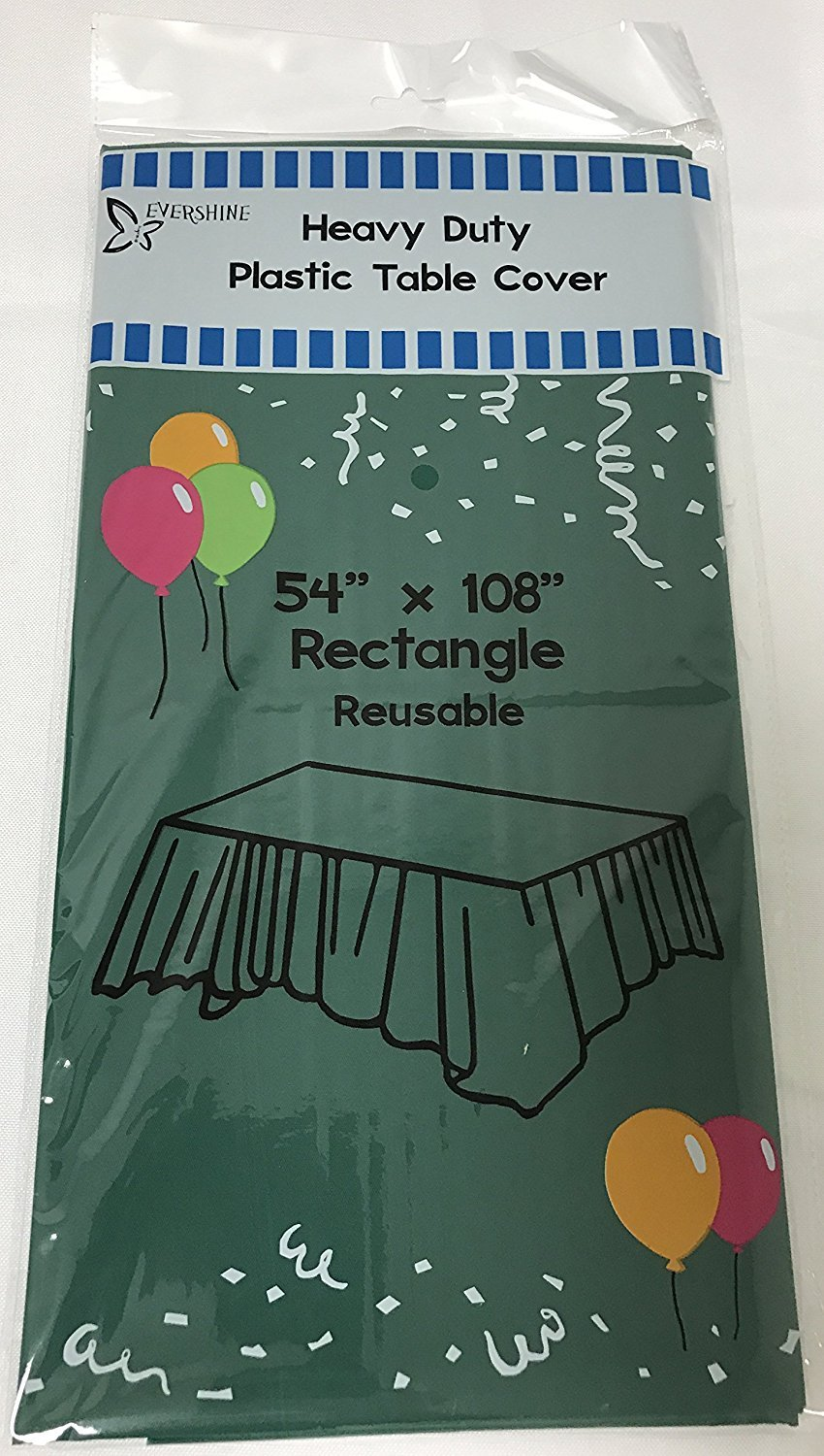 (12-pack) Heavy Duty Plastic Table Covers