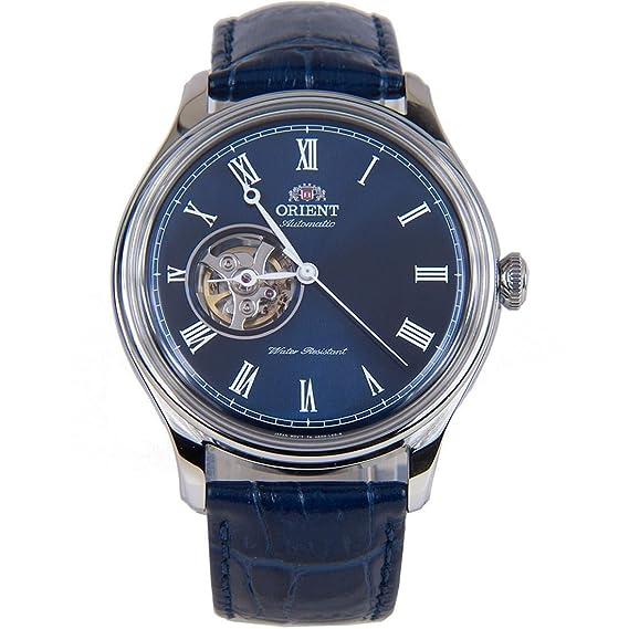 Orient Reloj Analógico para Hombre de Automático con Correa en Cuero FAG00004D0: Amazon.es: Relojes