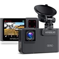 $114 » Kingslim D1 Pro Dual Dash Cam with Wi-Fi GPS, 2.5K/1080P Front and Cabin Dash Camera for…