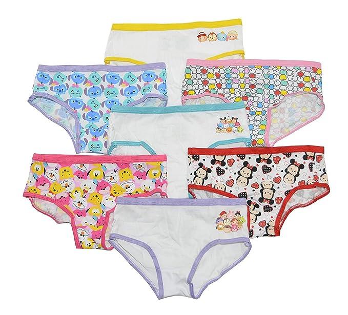 1cef9c21ad6 Amazon.com  Disney s Tsum Tsum Girls 7 Pack Hipster Panties (4 ...