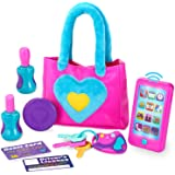 JOYIN Play-Act My First Purse Pretend Play Purse Toy Set for Little Girls, Interactive Purse Toy Set Including Pretend Play Smart Phone(Battery not Included), Keys, Pretend Makeup Accessories