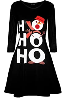 Womens Pudding Funny Cup Cakes Boobs Novelty Xmas Ladies Christmas Swing Dress