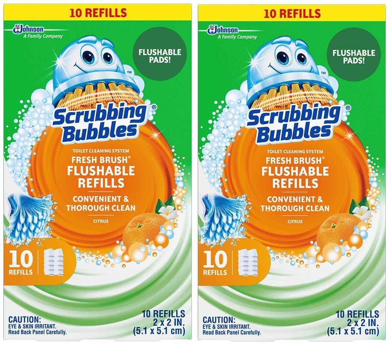 Scrubbing Bubbles Fresh Brush Refill 10-Count,2 Pack SC Johnson And Son Inc. 08872001150