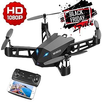 WiMiUS Drone con Cámara HD 1080P Auténtica, 2.4G FPV WiFi Dron y 6 ...
