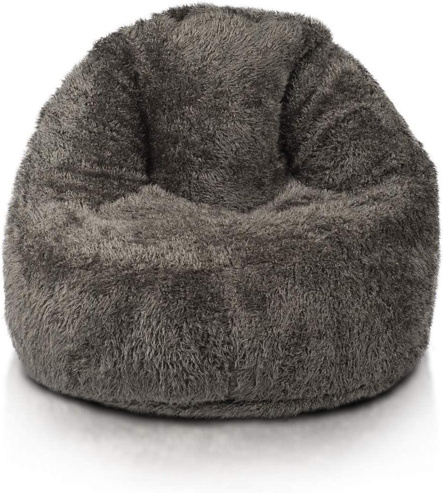 F/üllung Erforderlich: 400L 75x80 cm Perfekte Passform f/ür Country Interiors Ecopuf Schonbezug Glamour Shaggy Sessel Sitzsack Bezug,aus K/ünstlichem Pelz Leerer Pouf