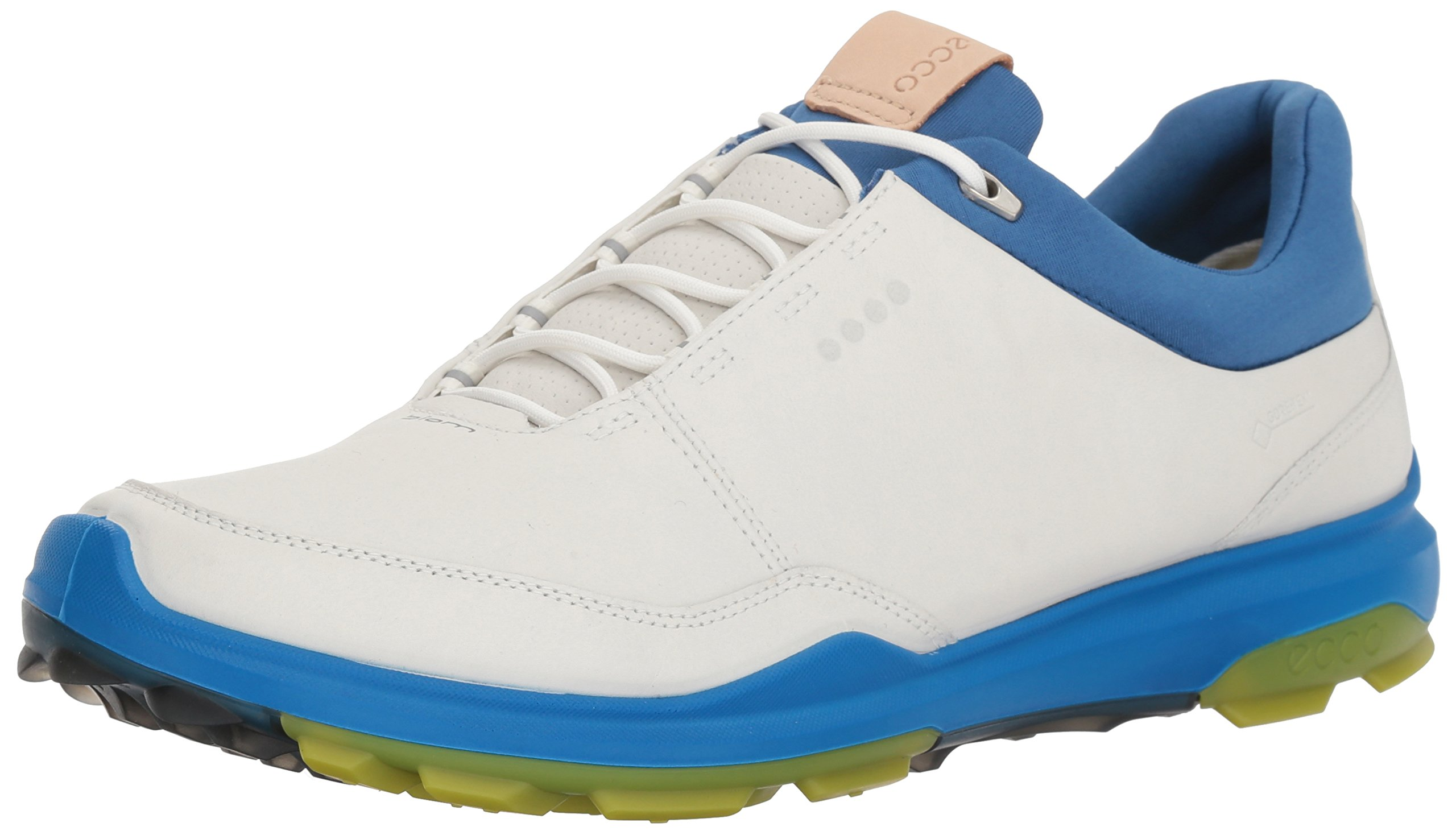 ECCO Men's Biom Hybrid 3 Gore-Tex Golf Shoe, White/Kiwi, 39 M EU (5-5.5 US)