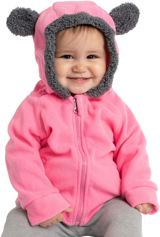 Cuddle Club Chaqueta Polar niño/niña Ropa Bebé y Niño de 0 a 5 años – Abrigo/Disfraz Bebé para Exterior con Cremallera y Capucha – Regalos Bebé