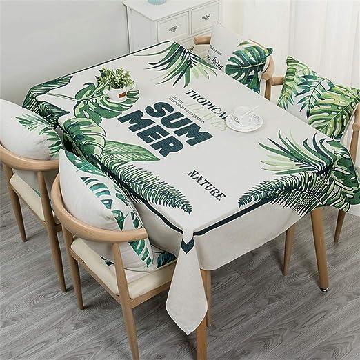 Chickwin Algodón y Lino Manteles Antimanchas, Rectangular Algodón Decoración Hogar Calor Mesa Tela Moderno para Fiesta Cocina Comedor Mesa (90x140cm,F): Amazon.es: Jardín